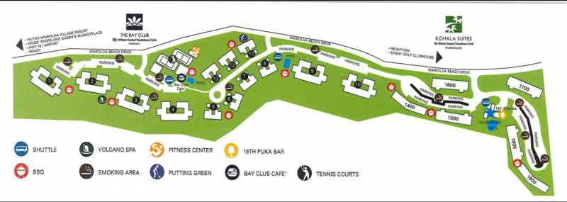 The Bay Club and Kohala Suites Property Map.png